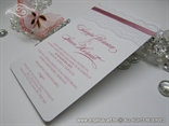 pozivnice sa cipkom roza bijele