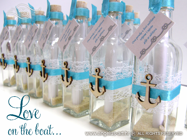 Wedding Invitation Message In A Bottle Anchor