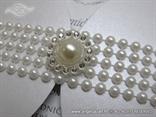 pozivnice za vjencanje luksuzne bijele sa perlama