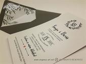 Pozivnica za vjenčanje - Olive Line