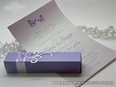 Pozivnica za vjenčanje - Purple Butterfly History