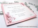 Pozivnica za vjenčanje - Pink Roses Line