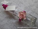 roza pozivnica za vjenčanje poruka u boci s ružičastom ružom