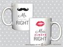 Šalice sa tiskom - MR & MRS