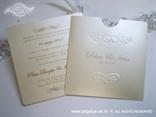 šampanj pozivnica za vjenčanje s ornamentima i tiskom