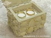 Jastučić za prstenje Bijela morska škrinjica