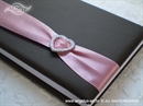 Knjiga gostiju za vjenčanje Smeđe roza knjiga sa srcem