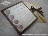 smeđe krem pozivnica za vjenčanje s tiskom teksta