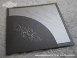 srebrna ekskluzivnica pozivnica za vjenčanje s tiskom