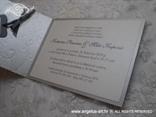 srebrna pozivnica s 3D strukturom i tiskom