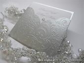 Pozivnica za vjenčanje - Silver Flower Charm