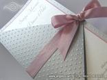 srebrna pozivnica za vjenčanje s točkicama