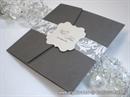 Pozivnica za vjenčanje Dark Silver Classic