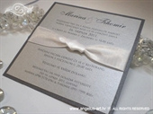 Wedding invitation - Lovely in Silver