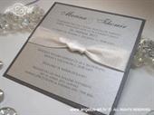 Pozivnica za vjenčanje Lovely in Silver