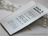 Pozivnica za vjenčanje - Tipografska Silver Line