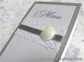 Menu/jelovnik za svadbenu svečanost - Srebrna školjka