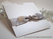Pozivnica za vjenčanje Silver Knot Charm