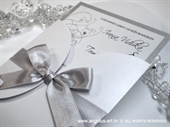 Wedding invitation - Crystal Silver Beauty