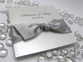Pozivnica za vjenčanje - Stylish Silver Bow