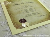 Pozivnica za vjenčanje History Teuta