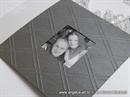 Pozivnica za vjenčanje Dark Silver True Love