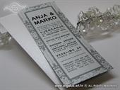 Pozivnica za vjenčanje - Tipografska Silver Frame Line