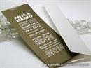 tipografska smeda pozivnica sa srebrnim foliotiskom