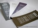 tipografske pozivnice za vjencanje raznih boja sa srebrnim foliotiskom