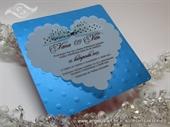 Pozivnica za vjenčanje - Turquoise Dot Heart