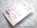 Zahvalnica za vjenčanje Leptirov let - ciklama