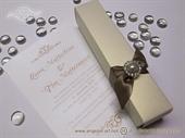 Pozivnica za vjenčanje - History Cream svitak