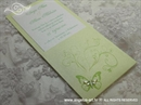 Pozivnica za vjenčanje Destiny Green Butterfly