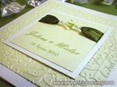 Pozivnica za vjenčanje Per Sempre Light Green
