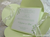 Wedding invitation - Pearl Green Beauty