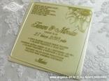 zlatna krem pozivnica plexy prozirna s tiskom i kuvertom