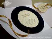 Pozivnica za vjenčanje Golden Round Joy