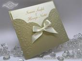 Pozivnica za vjenčanje - Golden Flower Charm