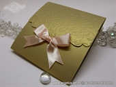 Wedding invitation - Peach Gold Classic