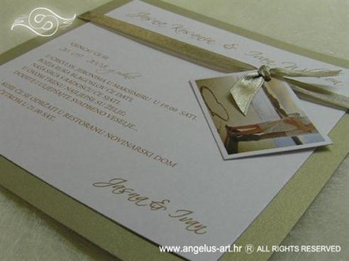 zlatna pozivnica sa slikom