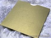 Pozivnica za vjenčanje - Gold Monogram Charm