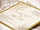 Pozivnica za vjenčanje Golden Modern Line