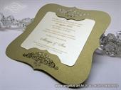 Pozivnica za vjenčanje - Golden Frame Shape - L