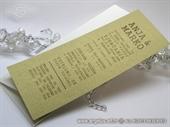 Pozivnica za vjenčanje - Tipografska Gold Line