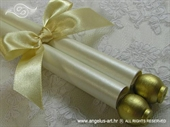 Ekskluzivna čestitka - Zlatna zarolana čestitka