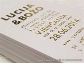 Pozivnica za vjenčanje - Tipografska Foliotisak Line