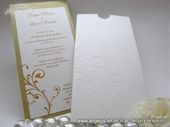 Wedding invitation - Charm Gold and White